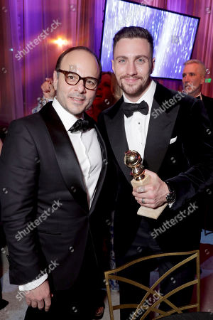 Stock Picture of Robert Salerno and Aaron Taylor-Johnson seen at Universal, NBC, Focus Features, E! Entertainment Golden Globes After Party Sponsored by Chrysler, in Beverly Hills, Calif