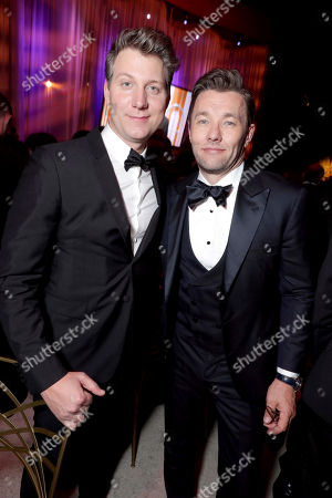 Jeff Nichols and Joel Edgerton seen at Universal, NBC, Focus Features, E! Entertainment Golden Globes After Party Sponsored by Chrysler, in Beverly Hills, Calif