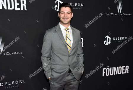 """Adam Rosenberg arrives at the U.S. premiere of """"The Founder"""" at the Cinerama Dome at ArcLight Hollywood, in Los Angeles"""