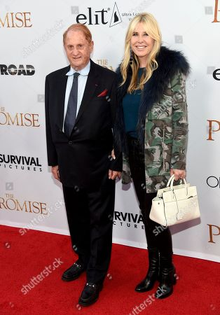 """Producer Mike Medavoy, left, and Irena Medavoy arrive at the U.S. premiere of """"The Promise"""" at the TCL Chinese Theatre, in Los Angeles"""