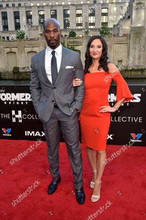 """Remi Adeleke seen at the US Premiere of """"Transformers: The Last Knight"""" at the Civic Opera House, in Chicago"""