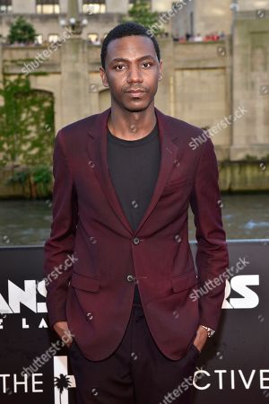 """Jerrod Carmichael seen at the US Premiere of """"Transformers: The Last Knight"""" at the Civic Opera House, in Chicago"""