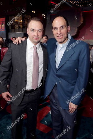 "Producer Thomas Tull and Producer Jon Jashni seen at Warner Bros. Pictures and Legendary Pictures Present the Los Angeles Premiere of ""Kong: Skull Island"" at Dolby Theatre, in Los Angeles"