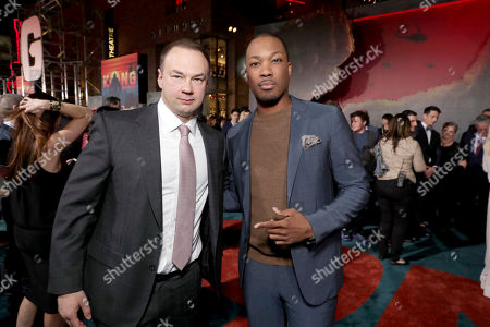 "Producer Thomas Tull and Corey Hawkins seen at Warner Bros. Pictures and Legendary Pictures Present the Los Angeles Premiere of ""Kong: Skull Island"" at Dolby Theatre, in Los Angeles"