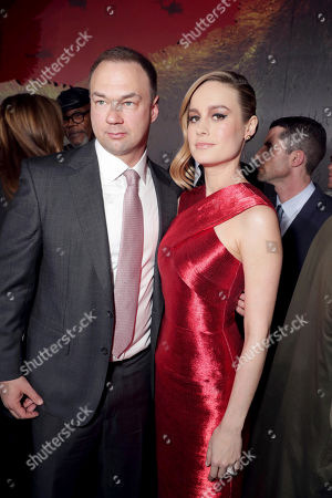 "Thomas Tull and Brie Larson seen at Warner Bros. Pictures and Legendary Pictures Present the Los Angeles Premiere of ""Kong: Skull Island"" at Dolby Theatre, in Los Angeles"