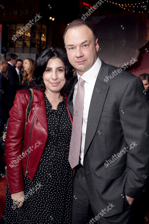 "Sue Kroll, President, Worldwide Marketing and Distribution, Warner Bros. Pictures, and Thomas Tull seen at Warner Bros. Pictures and Legendary Pictures Present the Los Angeles Premiere of ""Kong: Skull Island"" at Dolby Theatre, in Los Angeles"