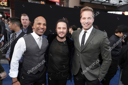 "Producer Ravi D. Mehta, Producer Andrew Panay and Ryan Hansen seen at Warner Bros. Pictures Los Angeles Premiere of ""CHIPS"" at TCL Chinese Theatre, in Los Angeles"