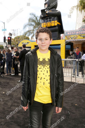 "Jadon Sand seen at Warner Bros. Pictures Presents the World Premiere of ""The Lego Batman Movie"" at Regency Village Theatre, in Los Angeles"
