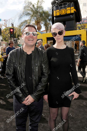 "Doug Benson and guest seen at Warner Bros. Pictures Presents the World Premiere of ""The Lego Batman Movie"" at Regency Village Theatre, in Los Angeles"