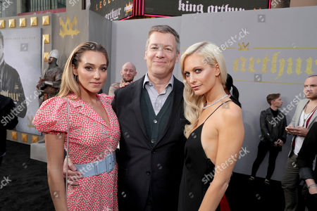 "Stock Image of Jacqui Ainsley, Writer/Producer Lionel Wigram and Poppy Delevingne seen at Warner Bros. World Premiere of ""King Arthur: Legend of the Sword"" at TCL Chinese Theatre, in Hollywood, CA"