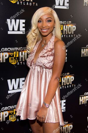 "Zonnique Pullins attends WE TV's ""Growing Up Hip Hop Atlanta"" premiere screening at iPic Theaters, in New York"