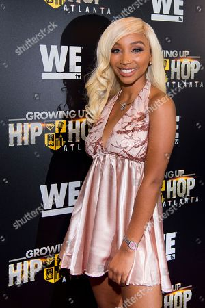 "Zonnique Pullins attends WE TV's ""Growing Up Hip Hop Atlanta"" premiere screening at iPics Theaters, in New York"