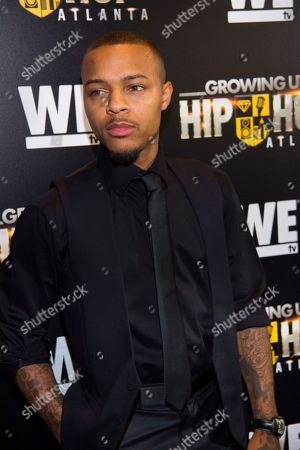 "Stock Image of Rapper Shad Moss, aka Bow Wow, attends WE TV's ""Growing Up Hip Hop Atlanta"" premiere screening at iPics Theaters, in New York"
