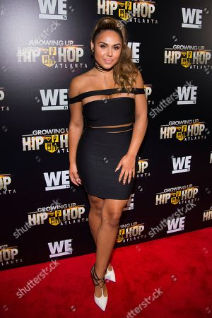 """Stock Photo of Kristinia DeBarge attends WE TV's """"Growing Up Hip Hop Atlanta"""" premiere screening at iPics Theaters, in New York"""