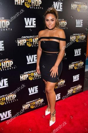 "Kristinia DeBarge attends WE TV's ""Growing Up Hip Hop Atlanta"" premiere screening at iPics Theaters, in New York"