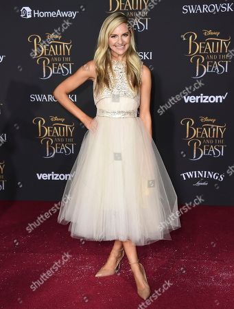 """Jackie Miranne arrives at the world premiere of """"Beauty and the Beast"""" at the El Capitan Theatre, in Los Angeles"""