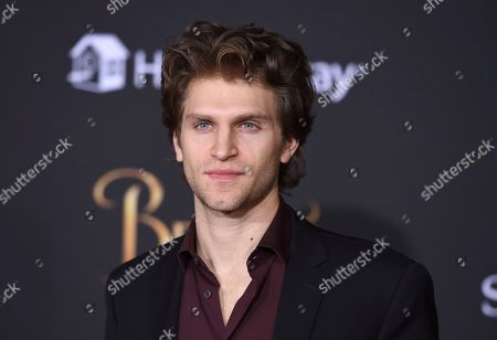 """Keegan Allen arrives at the world premiere of """"Beauty and the Beast"""" at the El Capitan Theatre, in Los Angeles"""