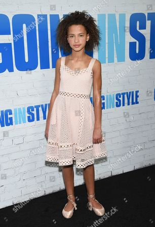 """Ashley Aufderheide attends the world premiere of """"Going in Style"""" at the SVA Theatre, in New York"""