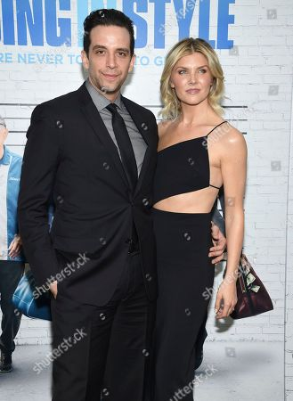 """Nick Cordero and guest attend the world premiere of """"Going in Style"""" at the SVA Theatre, in New York"""