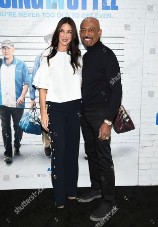 """Television personality Montel Williams and wife Tara Fowler attend the world premiere of """"Going in Style"""" at the SVA Theatre, in New York"""