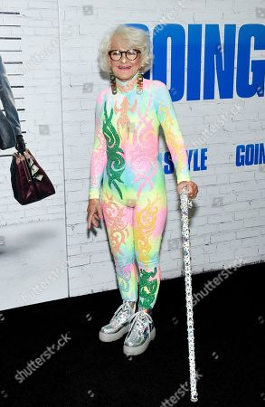"Baddie Winkle attends the world premiere of ""Going in Style"" at the SVA Theatre, in New York"