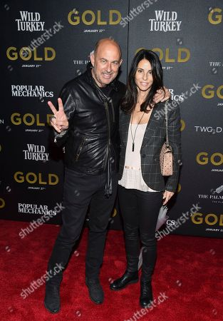 "John Varvatos and Joyce Zybelberg Varvatos attend the world premiere of ""Gold"" at AMC Loews Lincoln Square, in New York"