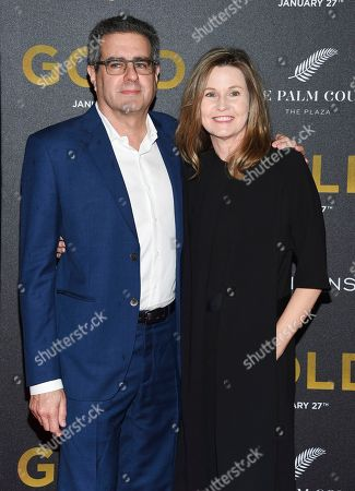 """Stock Photo of Producer Michael Nozik and wife attend the world premiere of """"Gold"""" at AMC Loews Lincoln Square, in New York"""