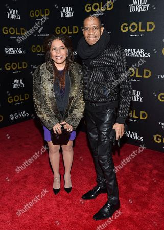 """Stock Picture of Valerie Simpson, left, and Freddie Jackson attend the world premiere of """"Gold"""" at AMC Loews Lincoln Square, in New York"""