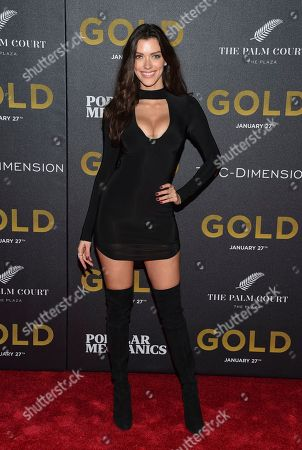 """Model Anna-Christina Schwartz attends the world premiere of """"Gold"""" at AMC Loews Lincoln Square, in New York"""