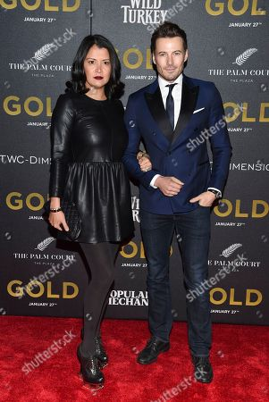 """Stock Image of Keytt Lundquist and Alex Lundquist attend the world premiere of """"Gold"""" at AMC Loews Lincoln Square, in New York"""