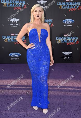 """Taylor Ann Hasselhoff arrives at the world premiere of """"Guardians of the Galaxy Vol. 2"""" at the Dolby Theatre, in Los Angeles"""