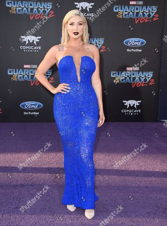 """Stock Picture of Taylor Ann Hasselhoff arrives at the world premiere of """"Guardians of the Galaxy Vol. 2"""" at the Dolby Theatre, in Los Angeles"""