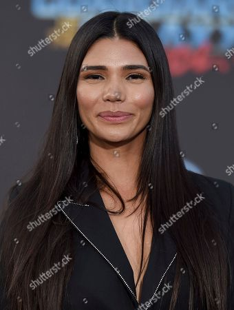 """Paloma Jimenez arrives at the world premiere of """"Guardians of the Galaxy Vol. 2"""" at the Dolby Theatre, in Los Angeles"""