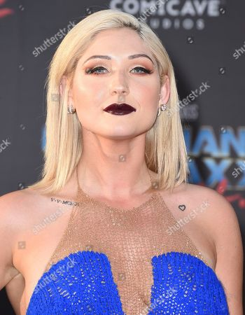 """Stock Image of Taylor Ann Hasselhoff arrives at the world premiere of """"Guardians of the Galaxy Vol. 2"""" at the Dolby Theatre, in Los Angeles"""