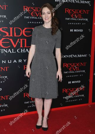 """Kristen Rakes arrives at the world premiere of """"Resident Evil: The Final Chapter"""" at Regal L.A. Live, in Los Angeles"""