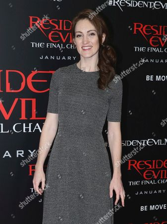 """Stock Photo of Kristen Rakes arrives at the world premiere of """"Resident Evil: The Final Chapter"""" at Regal L.A. Live, in Los Angeles"""