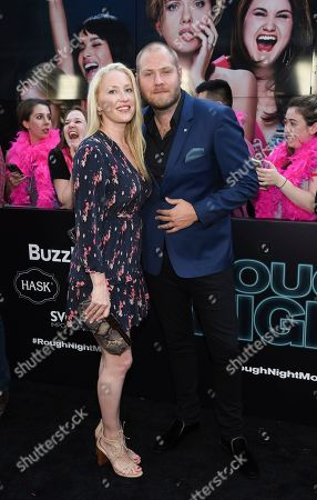 """Composer Dominic Lewis and guest attend the world premiere of Columbia Pictures' """"Rough Night"""" at AMC Loews Lincoln Square, in New York"""