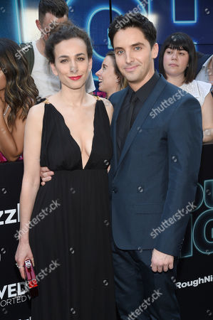 """Director Lucia Aniello, left, and Paul W. Downs attend the world premiere of Columbia Pictures' """"Rough Night"""" at AMC Loews Lincoln Square, in New York"""