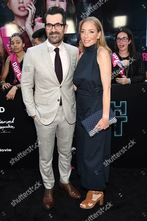 """Ty Burrell, left, and Holly Burrell attend the world premiere of Columbia Pictures' """"Rough Night"""" at AMC Loews Lincoln Square, in New York"""