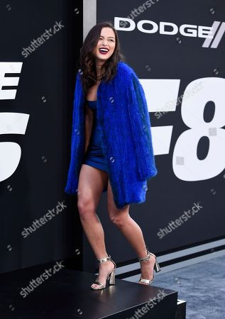 """Mia Kang attends the world premiere of Universal Pictures' """"The Fate of the Furious"""" at Radio City Music Hall, in New York"""