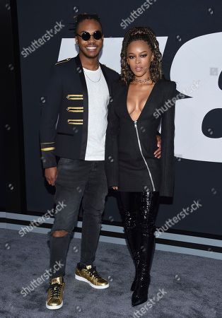 """Ohana Bam, left, and Serayah attend the world premiere of Universal Pictures' """"The Fate of the Furious"""" at Radio City Music Hall, in New York"""