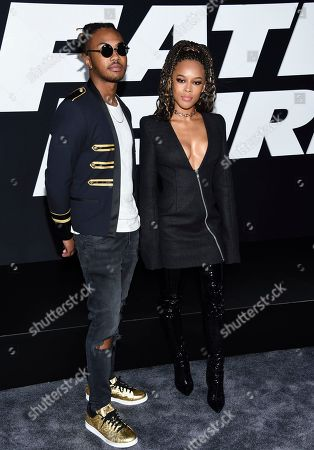 """Stock Picture of Ohana Bam, left, and Serayah McNeill attend the world premiere of Universal Pictures' """"The Fate of the Furious"""" at Radio City Music Hall, in New York"""