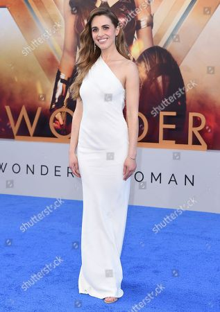 "Alexandra Siegel arrives at the world premiere of ""Wonder Woman"" at the Pantages Theatre, in Los Angeles"