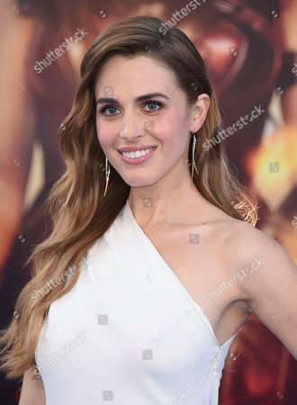"Stock Photo of Alexandra Siegel arrives at the world premiere of ""Wonder Woman"" at the Pantages Theatre, in Los Angeles"
