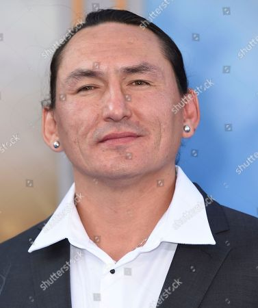 """Eugene Brave Rock arrives at the world premiere of """"Wonder Woman"""" at the Pantages Theatre, in Los Angeles"""