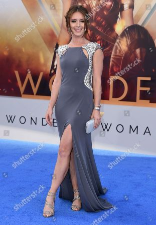 """Amy Pemberton arrives at the world premiere of """"Wonder Woman"""" at the Pantages Theatre, in Los Angeles"""