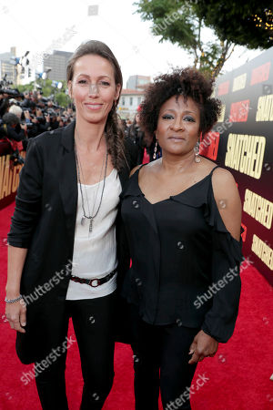 """Alex Sykes and Wanda Sykes seen at World Premiere of Twentieth Century Fox """"Snatched"""" at Regency Village Theatre, in Los Angeles"""