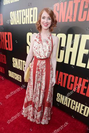 """Producer Jessie Henderson seen at World Premiere of Twentieth Century Fox """"Snatched"""" at Regency Village Theatre, in Los Angeles"""