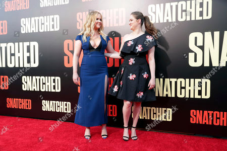 """Executive Producer/Actor Amy Schumer and Executive Producer Kim Caramele seen at World Premiere of Twentieth Century Fox """"Snatched"""" at Regency Village Theatre, in Los Angeles"""