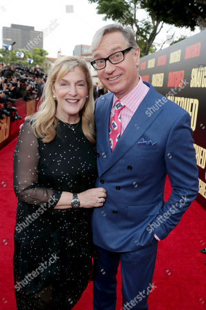 """Stock Picture of Laurie Karon and Producer Paul Feig seen at World Premiere of Twentieth Century Fox """"Snatched"""" at Regency Village Theatre, in Los Angeles"""